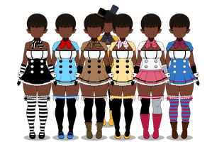 {{Playsuits for Freddy's 2}} by xXInfamous-TaylorXx