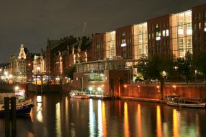 Speicherstadt at night - color by fr31g31st