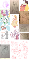 2013 Sketch Dump by celiere