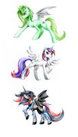 Alicorn Princesses by Z-N-K