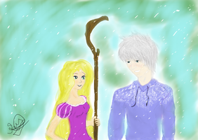 Rapunzel and Jack by Taylorann23