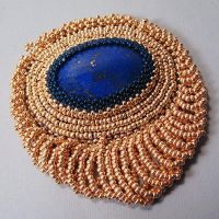 Lapis and Gold Seed Beads by Gailavira
