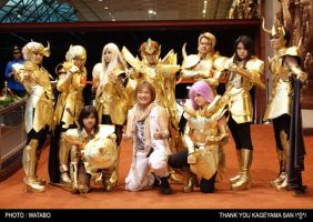 Gold saints n Kageyama-san by zaionic