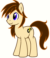 My new and permanent OC pony name Lightning Gear by Chambersr