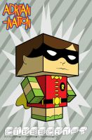 Robin cubeecraft template by ADRIAN-NATION