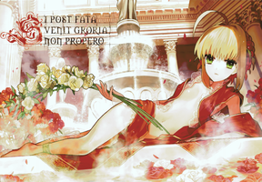 SABER FATE EXTRA MINECRAFT PIXEL ART i cant count by InfiniteMinecraftArt