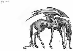 Undead Pegasus by ProbablyThePenguin
