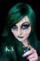 Siren / Evil Mermaid Makeup (with tutorial) by KatieAlves