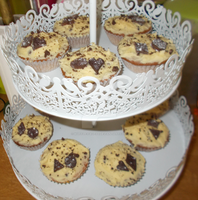 Cookie dough vanilla cupcakes by waffle-faceXD