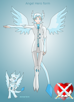 Goddess Light Diamond angel heroic form by HeroHeart001