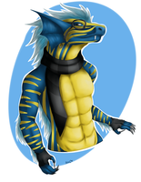 R: Anthro Blue Hasia by GhostlyMetalhead