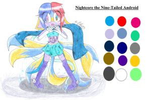 Nightcore the Nine-Tailed Android Reference by ExorcistLilium