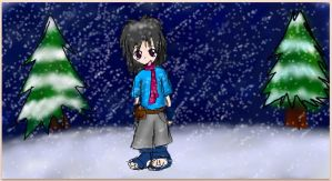 Hikari in the Snow by little-ampharos