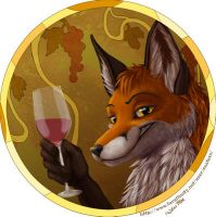 foxes and wine by EosFoxx