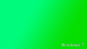 green win7 minimalistic by rafalmania