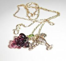 A bit tipsy necklace by PrettyShinyThings