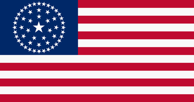 Alternate Flag of United States (50 Stars) v.1 by augustin-blot-LBPS