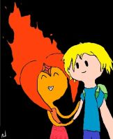 Finn and Flame Princess by LoveYouForeverBabe