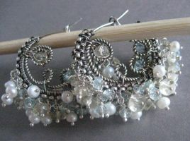 Ocean Curl Earrings by maryeb