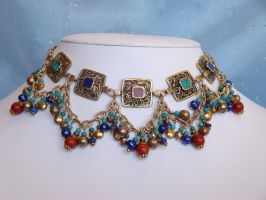 Intricate Ethnic Necklace by PearlsAndDragons