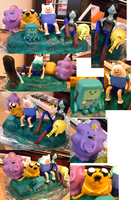 Adventure Time sculpture all views by TheDisappearingGirl