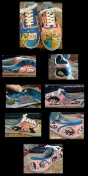 Adventure Time Shoes by doodlebunneh