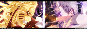 Naruto 651 - Naruto vs Obito (Collab) by i-azu
