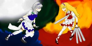 Clash of the Maids by FULLMETALSOS