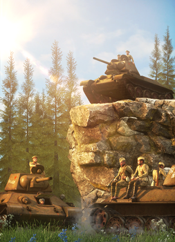 WW2 Soviet column by TheFunnyKep