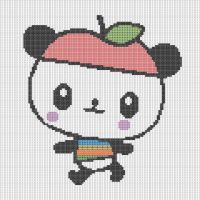 PandaApple Pattern by KittyBywaters