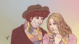4th Doctor and Romana II by surrenderdammit
