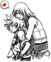 KH: Hugging by Kumagorochan