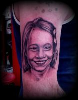 my first realistic portrait tattoo by CalebSlabzzzGraham
