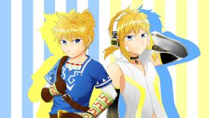 Crossover - Len and Link by Krustalos