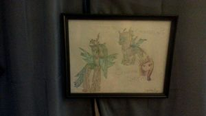 Queen Chrysalis and Changling by lilyr0sepage