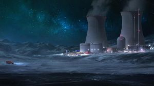nuclear-powered secret antarctic research station by MikaelWang