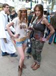 GTA V character and Lara Croft by V-kony