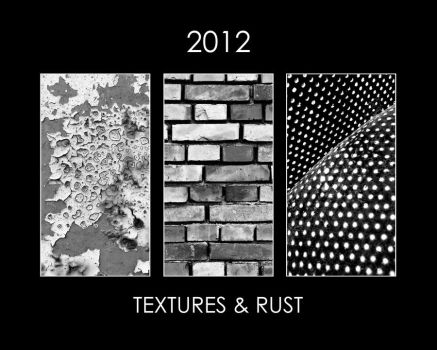 2012 CALENDAR Textures and Rust BW by leilani-m