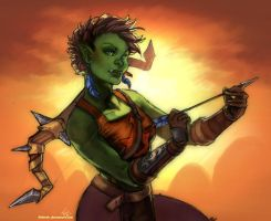 Orc huntress by Wulfgnar