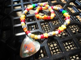 Hot Starry Resin Kandi necklace by Lutrasaura
