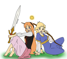Eilonwy of Llyr and Calla of Dunwyn by Foamy91