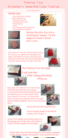 Tutorial: Polymer clay strawberry swiss roll by kurunut