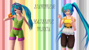 Hatsune miku this summer by YUMI-X01