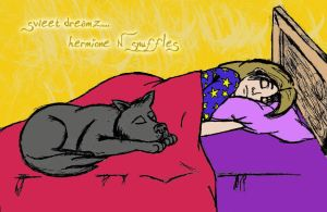 Snuffles + Hermione :coloured: by isnani