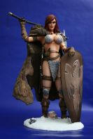 Red Sonja build up by Spanglerart
