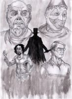 Washed Ink A3 - Serial Killers by IgorChakal