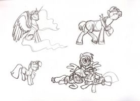 MLP Study Sketches - s1e3 - pt. 1 by MadderMike