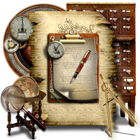 Secret Garden Steampunk Document Icon Library by TheAngeldove