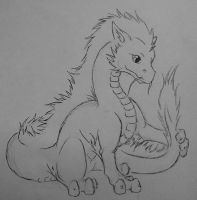 Baby Eastern Dragon *free lineart* by CFxCiarra