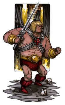 MiniCharacters - He-Man by NicolasRGiacondino